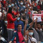 Huelga general y nuevas manifestaciones contra el golpe de Estado en Myanmar